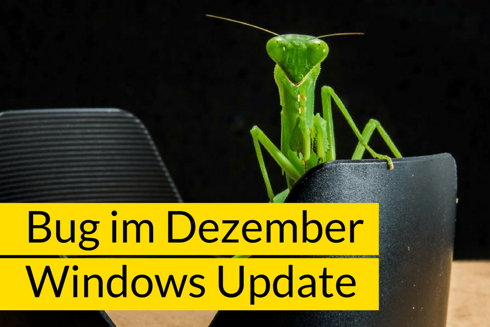 Bug im Windows Dezember Update